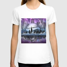 chicago city skyline T-shirt