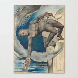 William Blake - Antaeus Setting Down Dante And Virgil In The Last Circle Of Hell Canvas Print