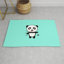 Happy Halloween Horror Panda T-Shirt Daopu Rug