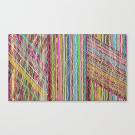 Strips and Strands Canvas Print