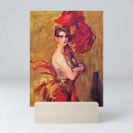 12,000pixel-500dpi - Isaac Lazarus Israels - Show-girl, La Cocotte, At Scala Theatre, The Hague Mini Art Print