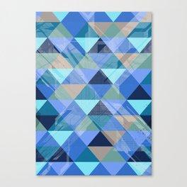 Triangles Blues Canvas Print