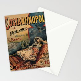 Constantinople Italian vintage book advertisement Stationery Cards