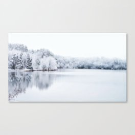 White Wonder Reflection Canvas Print