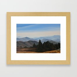 Grassy Ridge Bald, NC Framed Art Print