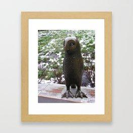 OWL. Between winter and spring Framed Art Print