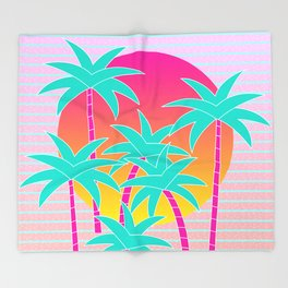 Hello Miami Sunset Throw Blanket