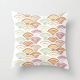 Baesic Watercolor Wifi Swash Throw Pillow