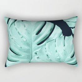 Monstera, Ancora #4 Rectangular Pillow