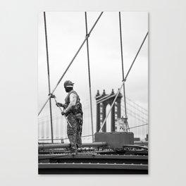 Painting the Brooklyn Bridge Canvas Print