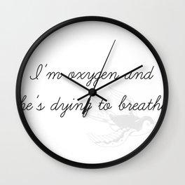 Oxygen Wall Clock