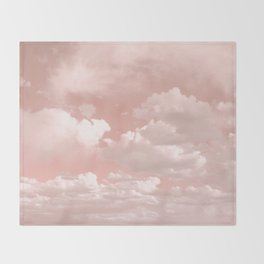 Clouds in a Peach Sky Throw Blanket
