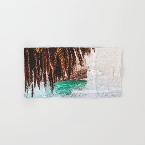 vintage ocean #palm tree Hand & Bath Towel