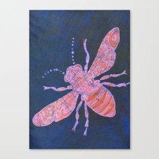 batik Bee Canvas Print