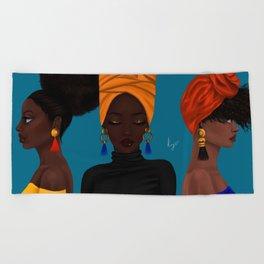 afrocentric Beach Towel