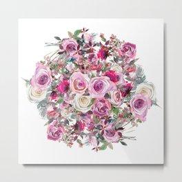 Bouquet of flowers - wreath Metal Print