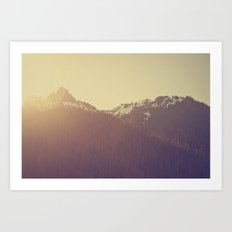 Sunrise over the Mountains Art Print