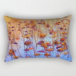 Dead Lotus Flower Rectangular Pillow