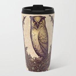 Owl Hedera Moon Travel Mug