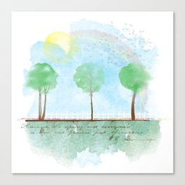 Always it's spring Canvas Print