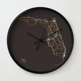 Florida Highways Wall Clock