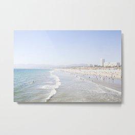 Santa Monica Beach Metal Print
