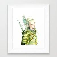 legolas Framed Art Prints featuring Legolas by Roger Cruz