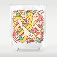 study Shower Curtains featuring Hand Study by Burnt Toast Creative