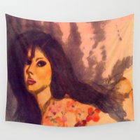 model Wall Tapestries featuring Tattoo Model by Darla Designs