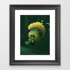Dandelion-Girl Framed Art Print
