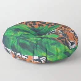 Jungle cat Floor Pillow