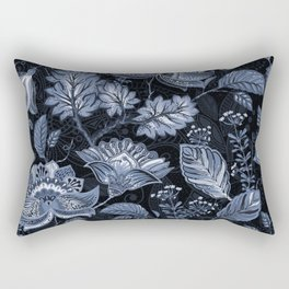 Blooms in the blue night Rectangular Pillow