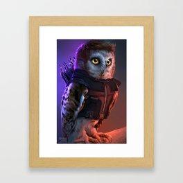 the Owlvengers - hawk eye owl Framed Art Print