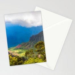 Kalalau lookout in Koke'e State Park - Kauai, Hawaii Stationery Cards