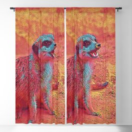 Popular Animals - Meerkat Blackout Curtain