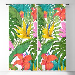 Tropical greens Blackout Curtain