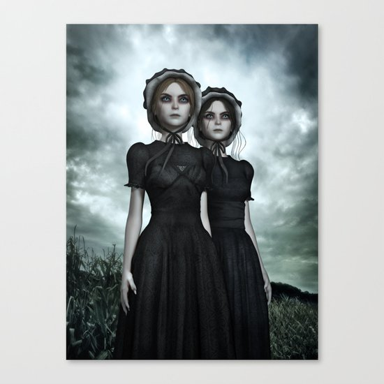 Deadly Halloween Twins – They are coming Canvas Print