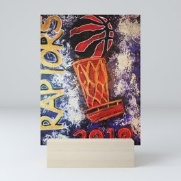 raptors 2,champion,basketball,gold,poster,wall art,2019,winners,NBA,finals,toronto,canada,painting Mini Art Print