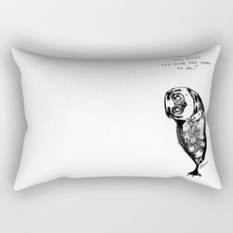 Identity Owl Captioned Rectangular Pillow