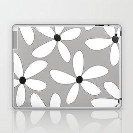 Happy flowers Gray Laptop & iPad Skin