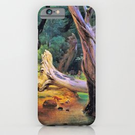 Horace Vernet - Departure For The Hunt In The Pontine Marshes - Digital Remastered Edition iPhone Case