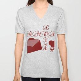 Love Amor Valentine Design Unisex V-Neck