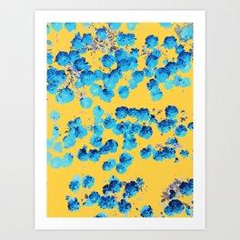 Bananans & Blue #abstract #nature Art Print