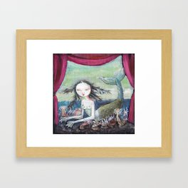 Fiji Mermaid Framed Art Print