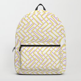 Retro graphic design in neon colors Backpack