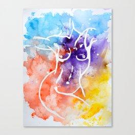 Inverse nude Canvas Print