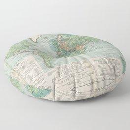 Flemmings Kriegskarten / Flemming's War Maps (1917) - 037 Map of the World, 1917 Floor Pillow