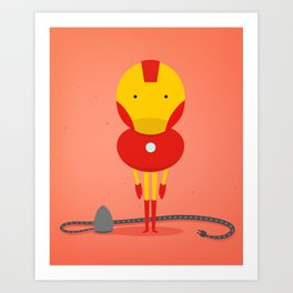 Ironman: My ironing Hero! Art Print
