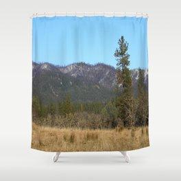 Winter on Big Creek Road.... Shower Curtain