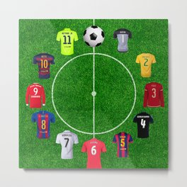 Football clock Metal Print